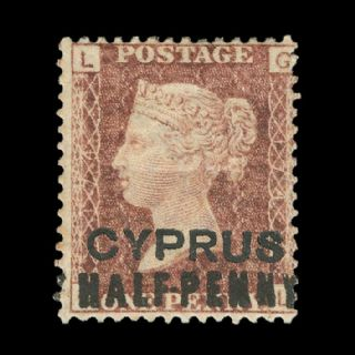TUT1833 - Cyprus - QV 'CYPRUS' ovpt. Half-penny surch. 1d red brown. CLICK FOR FULL DESCRIPTION